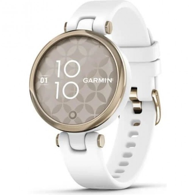 Часы GARMIN LILY -SPORT EDITION, CREAM GOLD BEZEL WITH WHITE CASE AND SILICONE BAND 010-02384-10