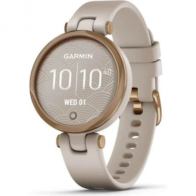 Часы GARMIN LILY -SPORT EDITION, ROSE GOLD BEZEL WITH LIGHT SAND CASE AND SILICONE BAND 010-02384-11